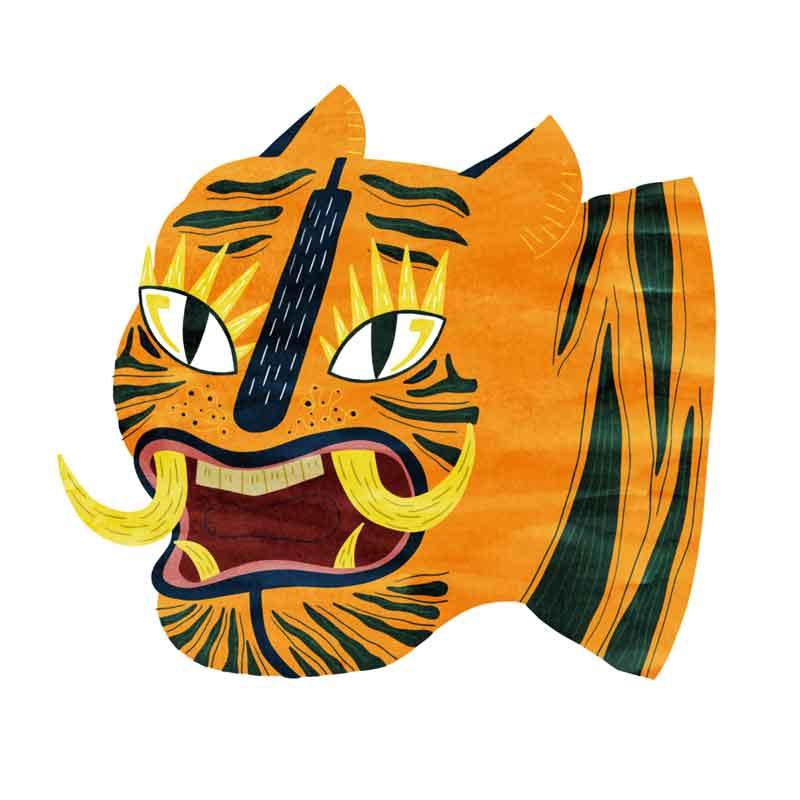 design tête de tigre illustration